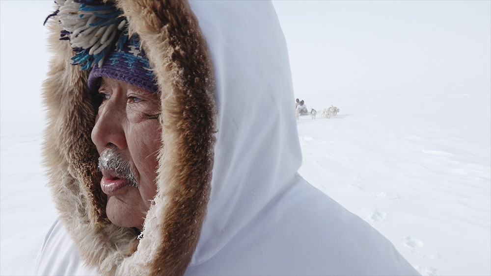 *One Day in the Life of Noah Piugattuk * 2019  Directed by Zacharias Kunuk  Filmed on location in north Baffin Island (2018). Featuring: Noah Piugattuk (Apayata Kotierk) 2019 Vancouver International Film Festival recipient for Best Canadian Film.