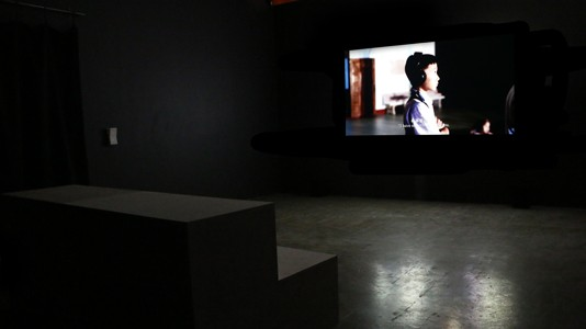 *Ex-Ante* October 27 - December 22  Chia-Wei Hsu, 'Huai Mo Village' (2012), one-channel video installation, 08:20  Photograph by Cameron Ah Loo-Matamua