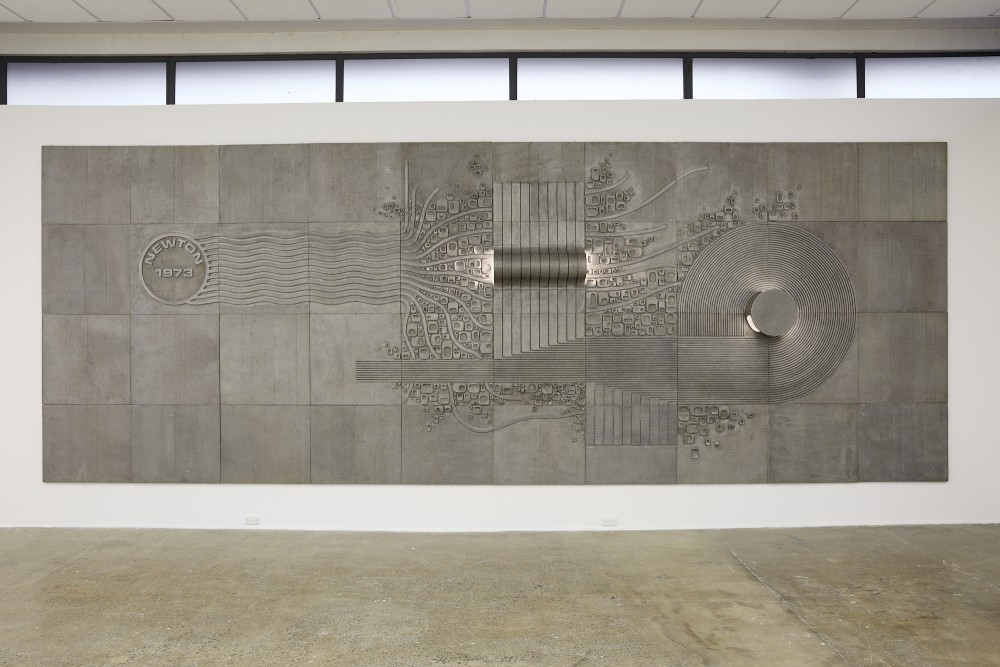 *Newton Post Office Mural* Aluminium 2900 x 7250 Courtesy of Auckland Art Gallery  1973  Image Credit: Sam Hartnett