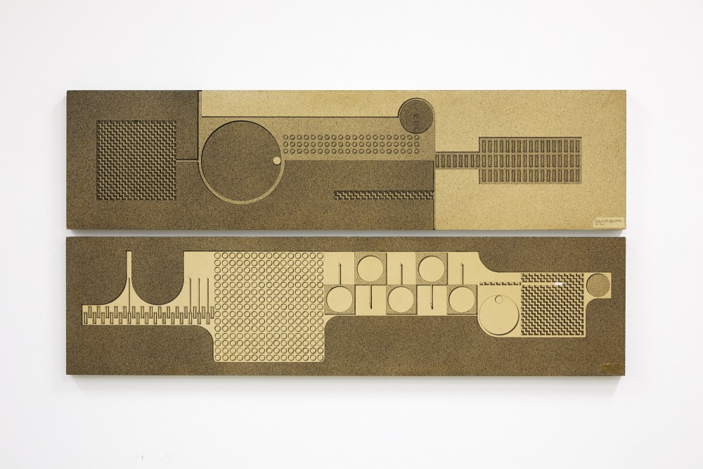 *Maquette for National Bank Mural, Thames * Ink on board 300 x 1220 (x2) Courtesy of the Ngan Family 1969  Image Credit: Sam Hartnett