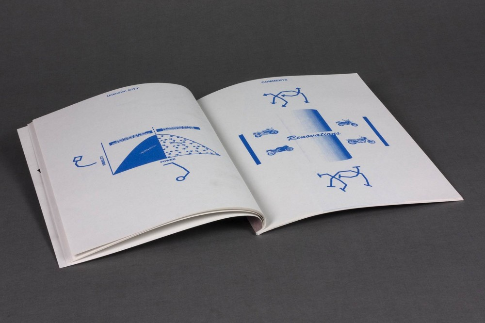 On the occasion of the 2012 *New Artists Show*, Artspace Aotearoa supported the production of Ella Sutherland's *Popular Brands to Steal*, a risograph printed publication released in an edition of 200.