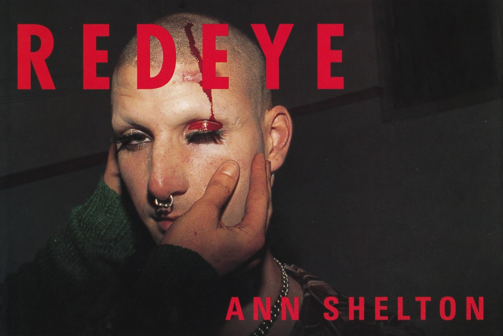 The cover of Ann Shelton's publication *Red Eye*, launched at Artspace on 26 1997 alongside an exhibition of photographs included in this publication. This exhibition subsequently toured to The Manawatu Art Gallery, Te Papa-i-Oea Palmerston North, The Art Annex, Ōtautahi Christchurch, and Dunedin Public Art Gallery, Ōtepoti Dunedin, The Dowse Art Gallery, Te Awakairangi Lower Hutt, and was exhibited as part of Fotofeis at The Arches, Glasgow, Scotland.